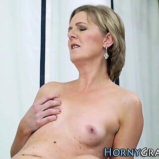 Heeled gilf sucking cock