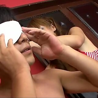 Raunchy Yuki Mizuho uses her tongue to lick and suck her fuck buddys hairy ass