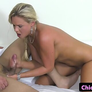 Female casting agent tastes warm jizz