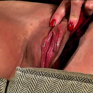 edible old spunker in stockings loves to fuck her fleshy cunny