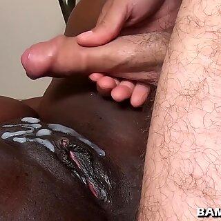 Cum on black pussy compilation