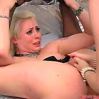 Annette Schwarz gets her fingers into her friends wet twat