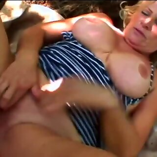Extreme huge titted granny craving for semen