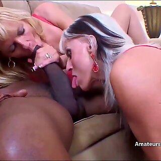 Mature thin blondes enjoy big black cocks