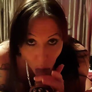 Julia Exclusiv licks my balls and sucks my dick