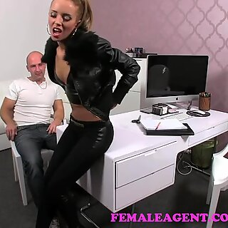 FemaleAgent. Teasing agent filled utter of jizm in jaw-dropping casting