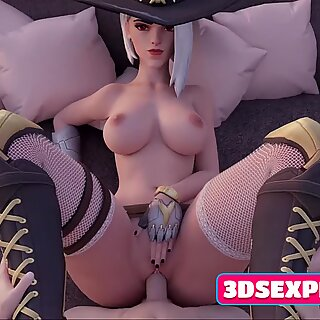 Slutty 3D Ashe with Perfect Pussy Gets Rough Fucks