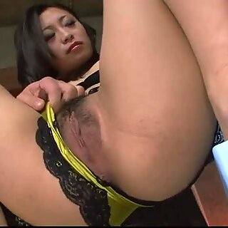 Dildo fondled naughty babe with big tits