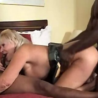 Granny Blows Big Black Cocks