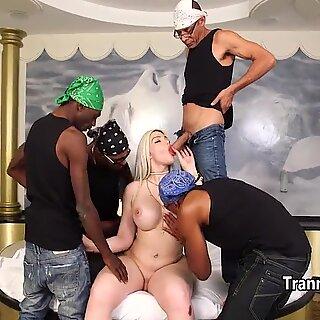 Black guys gangbanged big ass tranny
