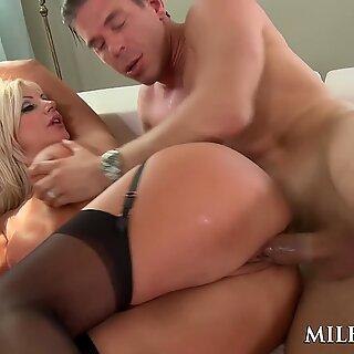 MILFGonzo Busty Blonde Bombshell Brittany Andrews Fucked Hard