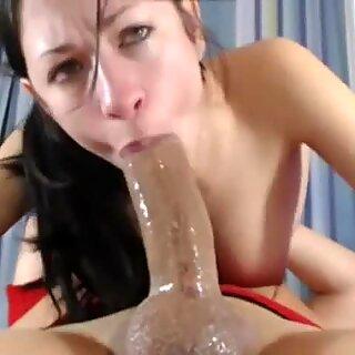 Sexual brunette suck big cock