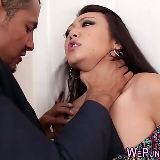 He fucked her rough and cocky despite her resistance.