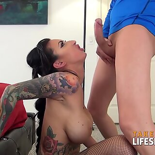 Dirty Talking Tattooed Teaser Lily ThroatedReport this video