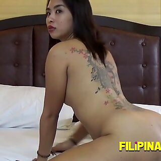 Skinny Asian petite opens her wet pussy to get nailed deep