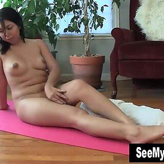 Nasty Asia Masturbating On The Floor