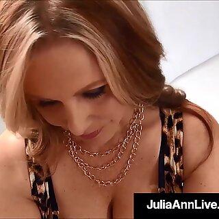 Beautiful Milf Julia Ann Sucks &amp_ Strokes A Stiff Dick POV!