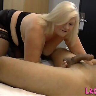 Kinky granny riding and sucking dick